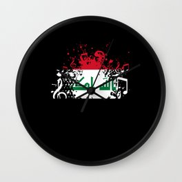 Iraq Flag Music Wall Clock