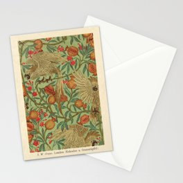 Bird And Pomegranate Wallpaper Design Stationery Cards