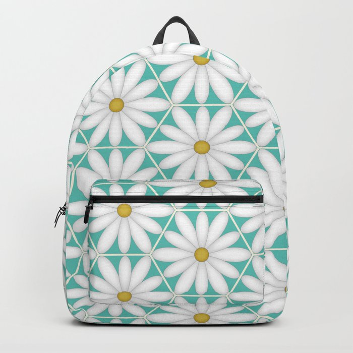 Daisy Hex - Turquoise Backpack
