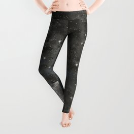 Watercolor Space Moon Robayre Leggings
