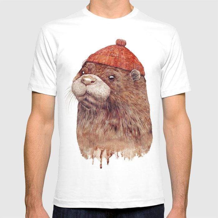 e45b6156d110 River Otter T-shirt by animalcrew | Society6