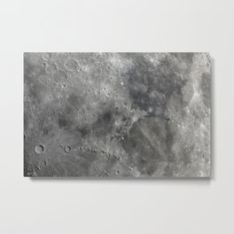 craters on the moon Metal Print