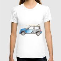 mini cooper T-shirts featuring Magnificent Mini Cooper by Fuzzy Art