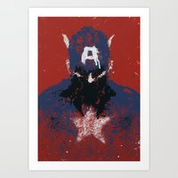 captain Art Prints featuring The Captain by Purple Cactus