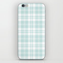 Cozy Plaid in Mint iPhone Skin