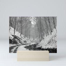 Mountain road Mini Art Print