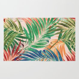 Palm Leaves in color Rug