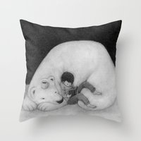 sofa Throw Pillows featuring Sofa by Satoshi OTA