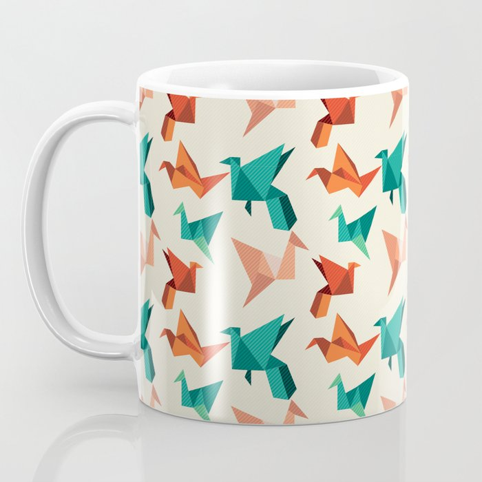 teal paper cranes Coffee Mug