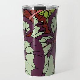 Rex Begonia Illustrated Print Travel Mug