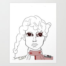 Army Girl Art Print