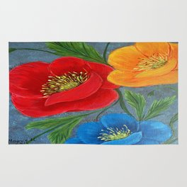 Poppies-3 Rug