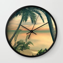 View of the sea Wall Clock