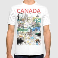 Canada (portrait version) Mens Fitted Tee White MEDIUM