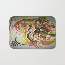 Aztec Abstract Design Bath Mat