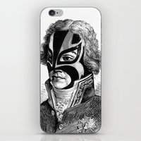 wrestling iPhone & iPod Skins featuring WRESTLING MASK 11 by DIVIDUS