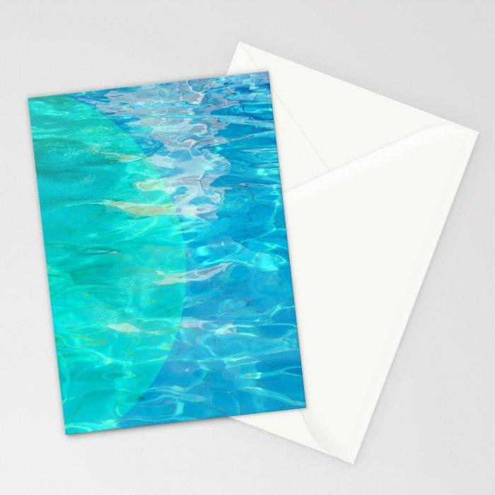 semi circle pool 9689 Stationery Cards