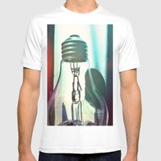 Art should disturb the comfortable. MEDIUM White Mens Fitted Tee
