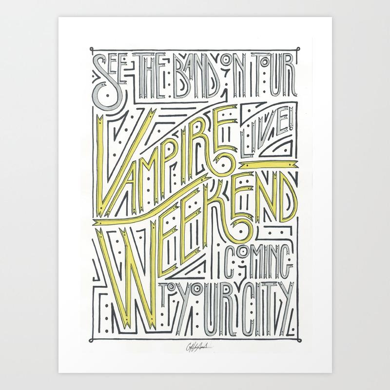 Vampire Weekend Band Poster Art Print