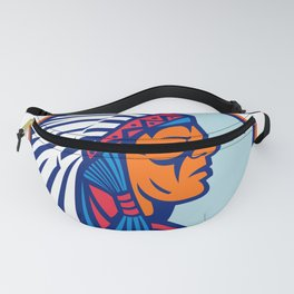 Cheyenne Chief Head Mascot Fanny Pack