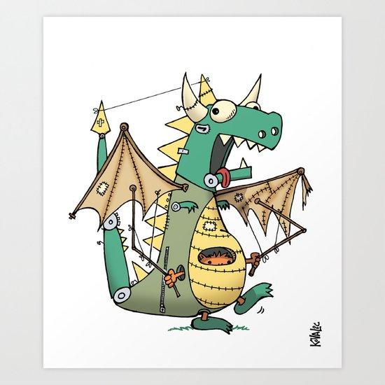 A Kobold in Dragon Clothing Art Print