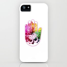 Zen Ohm Hamsa Colorful Flower iPhone Case