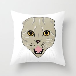Random Cat Throw Pillow