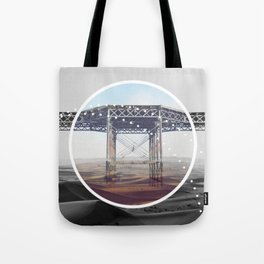 Surreal Bridge - circle graphic Tote Bag