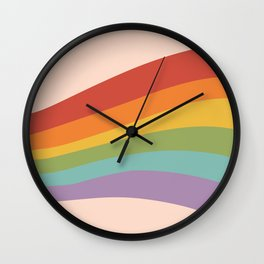 Rainbow Stripes 4 Wall Clock