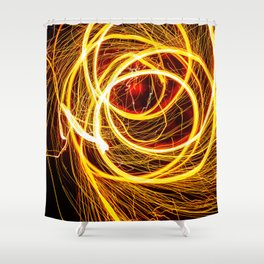 SEE YOU THROUGH THE FLAMES Shower Curtain
