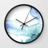 salt water Wall Clocks featuring water and salt by realgiant
