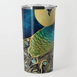 Golden Peacock Travel Mug
