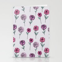 peonies Stationery Cards featuring Peonies by Abby Galloway