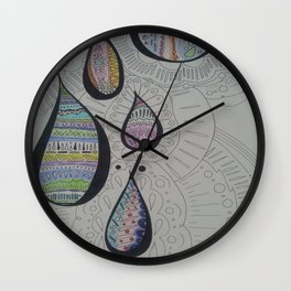 Paisley Tears Wall Clock