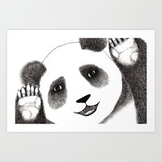 Panda Close Up Art Print