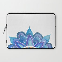 Floral mandala blue Laptop Sleeve