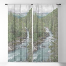 Alaska River Canyon - II Sheer Curtain