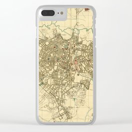 Vintage Map of Sao Paulo Brazil (1916) Clear iPhone Case