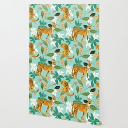 Cheetah Jungle #illustration #pattern Wallpaper