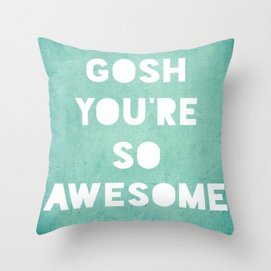 Gosh Throw Pillow