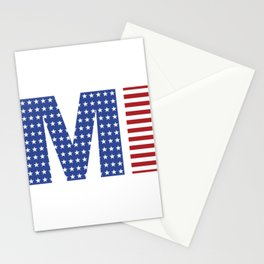 Michigan 4th Of July Stationery Cards