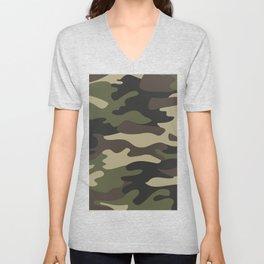 military camouflage-4k Unisex V-Neck