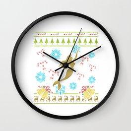 Mermaid Christmas Ugly Sweater Design Shirt Wall Clock