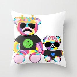 Rainbow bears Throw Pillow