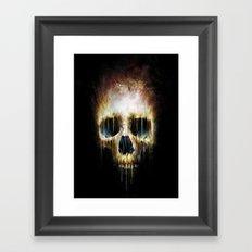 Skull Flame Framed Art Print