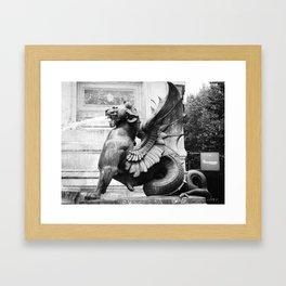 stone creature Framed Art Print