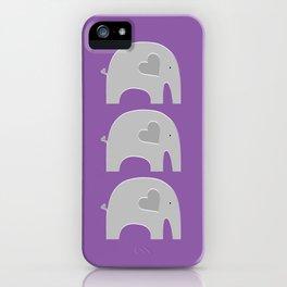 Purple Safari Elephant iPhone Case