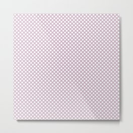 Winsome Orchid and White Polka Dots Metal Print