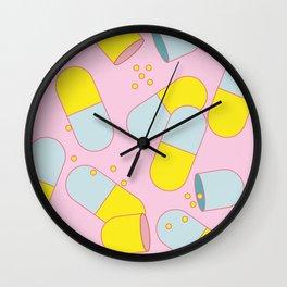 Happy Pills Wall Clock