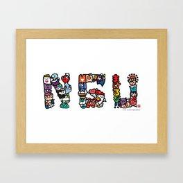 NGU / Never Give Up Framed Art Print